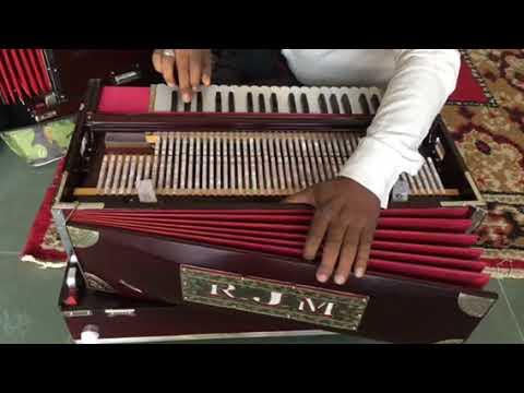 4 Line 13 Scale Harmonium With Coupler