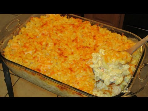 How to make Baked Macaroni and cheese with shrimp