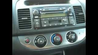 How to Toyota Camry car Stereo radio Removal Repair 2002 - 2006 replace cd tape