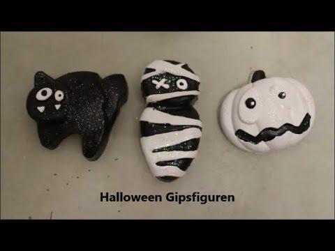 DIY: Halloween Gipsfiguren basteln / Mit Backform aus dem Tedi / Basteln mit Kinder