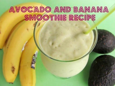 Video Avocado and Banana Smoothie Recipe