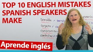 False Friends: English mistakes that Spanish speakers make