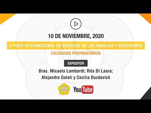 II FORO INTERNACIONAL DE DERECHO DE LAS FAMILIAS Y SUCESIONES - 10 de Noviembre 2020