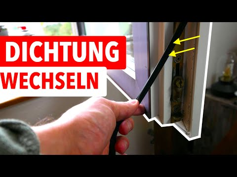 Fensterdichtung wechseln - So gehts! Und Geld sparen!