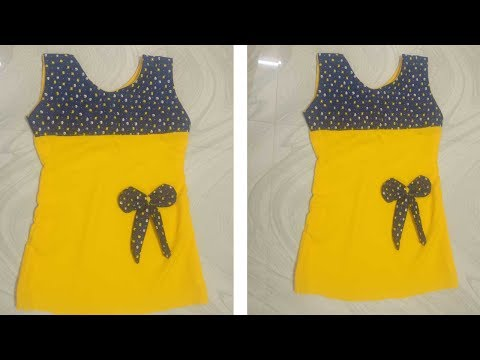 KIDS STYLISH A- LINE FROCK CUTTING AND STITCHING AT HOME IN EASY METHOD.