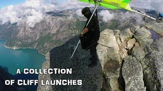 A COLLECTION OF CLIFF LAUNCHES #hanggliding