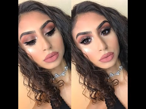 Brown Smokey Eye Makeup Tutorial Ft. ABH Master Palette By Mario