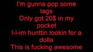 Macklemore - Thrift Shop Ft. Wanz Lyrics On Screen [Download in description]