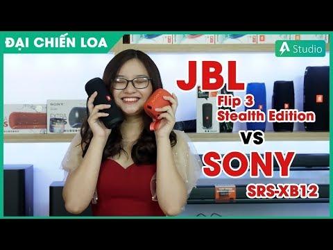 [Đại chiến loa] JBL Flip 3 Stealth Edition vs Sony SRS-XB12 l Loa nào hơn?