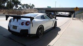 Ride in a 750+hp GTR R35 running on e85! Armytrix Exhaust, Revs, Tunnel Blasts and Walk Around!