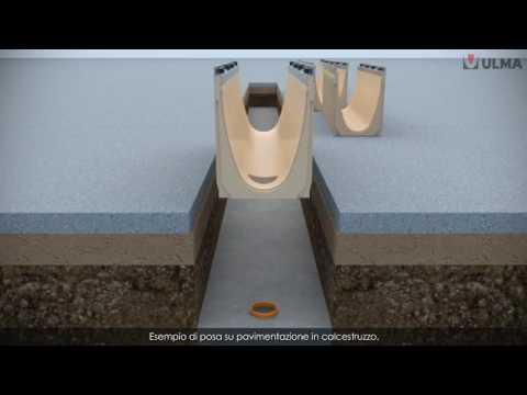 Come installare canali di drenaggio prefabbricati in calcestruzzo polimerico ULMA