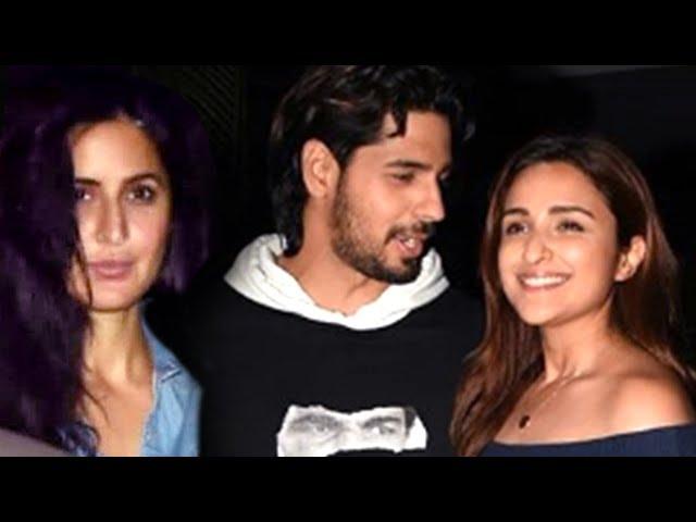 Katrina Kaif, Sidharth Malhotra, Parineeti Chopra Meet Over A Dinner