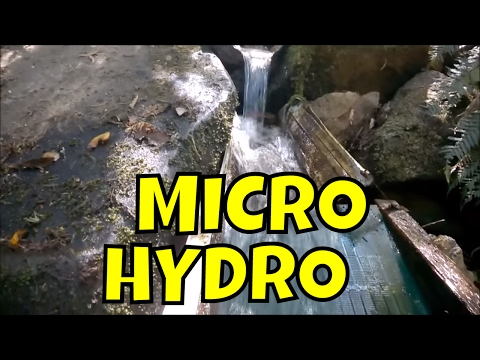 Powerspout Turbine - Tasmanian Micro Hydro Power Station In mountains