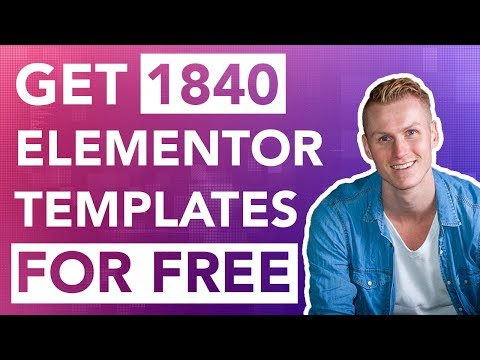 , title : 'Get 1840 Professional Elementor Templates For Free