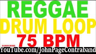 Reggae Drum Loop for Guitar and Bass 75 bpm Rock