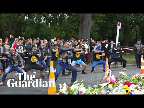 Biker gang performs haka in tribute to Christchurch shooting victims