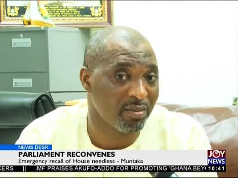 Parliament Reconvenes - News Desk on Joy News (26-4-18)