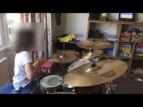 8 Year old Zak playing along to 'Back In Black' by AC/DC