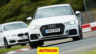 [Autocar] Audi RS3 vs BMW M140i track battle | Hot hatch review