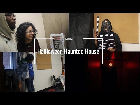 #vlog 3 American customs 2: Halloween, Making a Haunted House