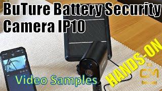 Buture ip10 Test: Battery Security CAM & Solar Panel - Hands-on (Deutsch, eng. hints)