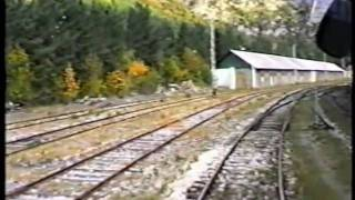 preview picture of video 'Ferrocarril de Canfranc 5 y 6 de Octubre de 1996.'
