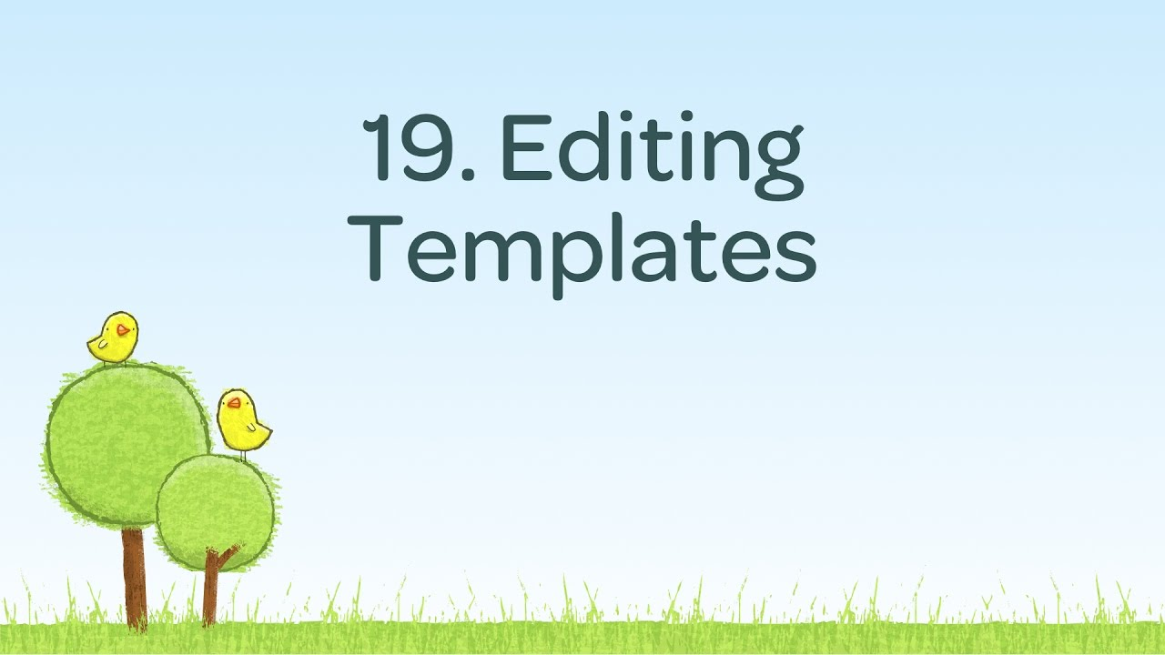 Editing Blog Templates
