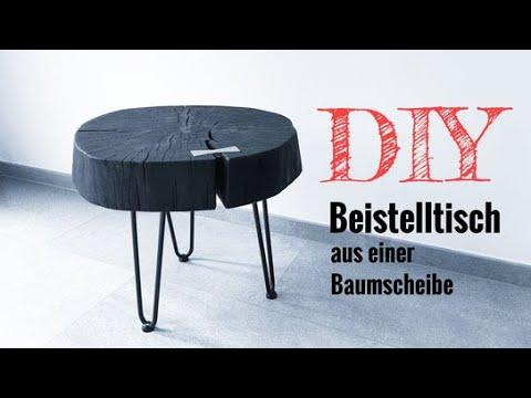 DIY Tisch / Beistelltisch selber bauen / Holz abflammen