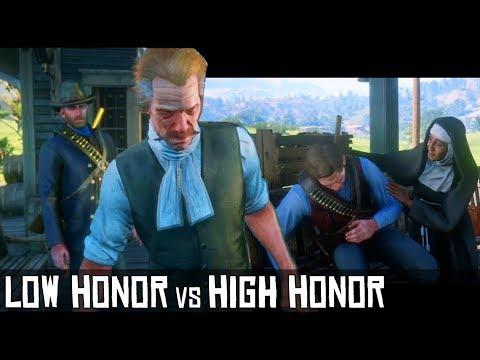 rdr2 low honor vs high honor grave of arthur morgan red dead