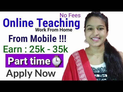 Best Online Teaching platform  Work from home    Freshers can apply  