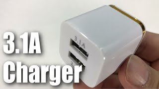 eBerry 3.1A Dual USB Wall Charger Charging Block Review
