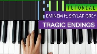 Eminem - Tragic Endings (feat. Skylar Grey) - Piano Tutorial + MIDI