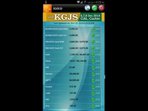 Video of IGold Rates from Ponnus Online