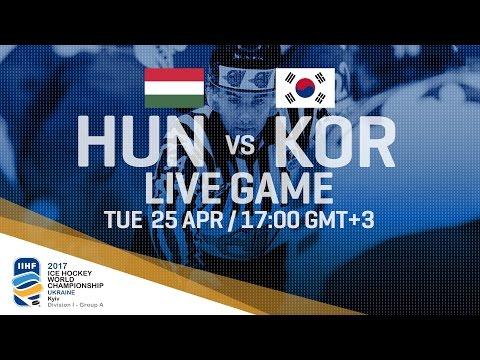 Hungary - Korea | Full Game | 2017 IIHF Ice Hockey World Championship Division I Group A