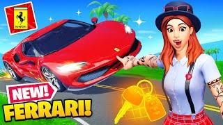 *NEW* FERRARI Update in Fortnite! (FASTEST CAR)