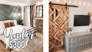 BEDROOM MAKEOVER UNDER $300🔨 | Boho Bedroom DIY