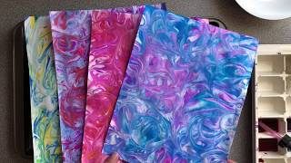 How To Make Marbled Paper With Shaving Cream And Watercolours