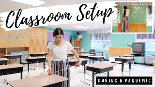 CLASSROOM SETUP DAY 1 | 2020-2021 | Desks 6ft Apart