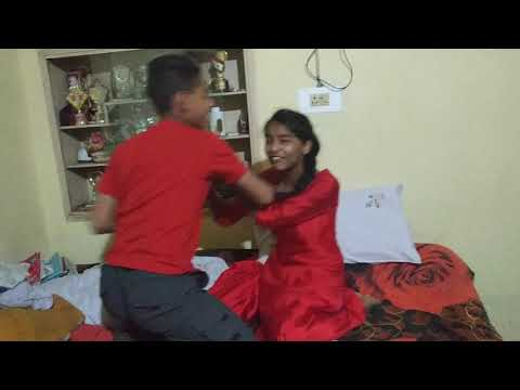 Brother and sister fight