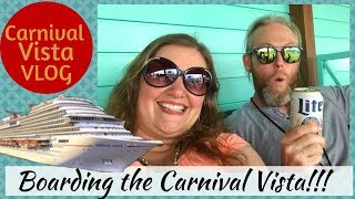 Boarding the Carnival Vista including Connecting Interior Cabin Tour