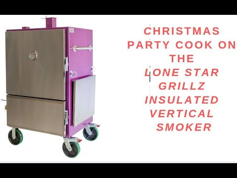 Seasoning my Lone Star Grillz Large Insulated Vertical Smoker