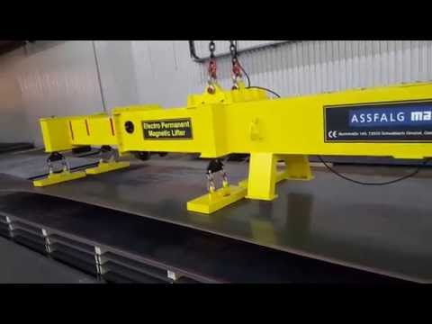 Assfalg Electro Permanent Magnetic Material Handling System 12t, 6-9m - magnet selection