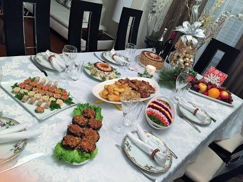 Мой Праздничный  Рождественский ( Новогодний)  Стол. Праздничные блюда.