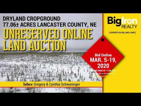 Land Auction 77.06+/- Acres Lancaster County, NE