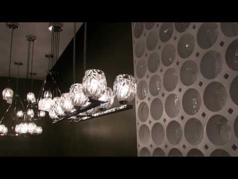 Video for Rubin Polished Nickel Seven-Light Pendant