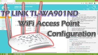 Tp Link WiFi access point configuration