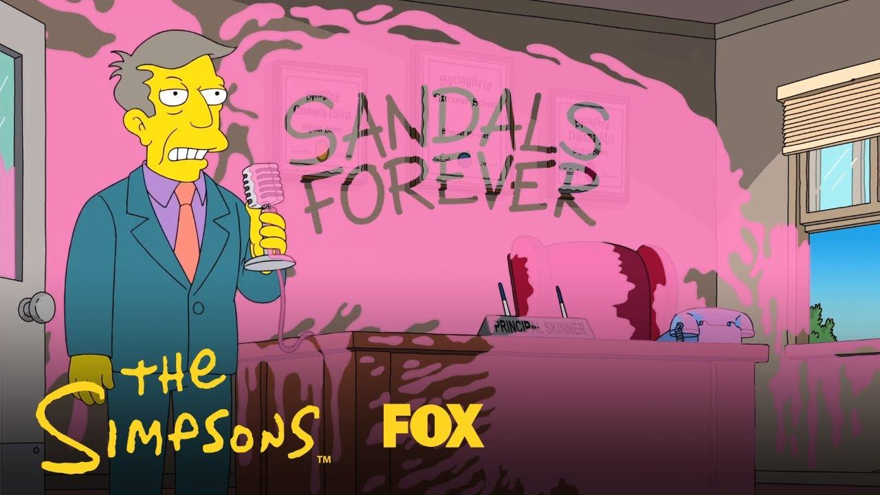 Students Vandalize Principal Skinner's Office   Season 30 Ep. 18   THE SIMPSONS