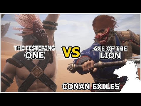 The Festering One VS Axe of The Lion | CONAN EXILES