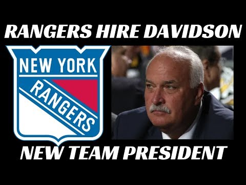 New York Rangers Hire John Davidson as Team President