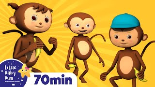 5 Little Monkeys Jumping On The Bed | Plus Lots More Nursery Rhymes | 72 Mins from LittleBabyBum